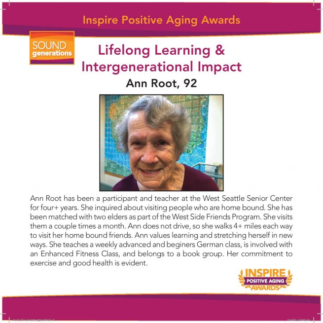 lifelong learning and intergenerational impact nominee