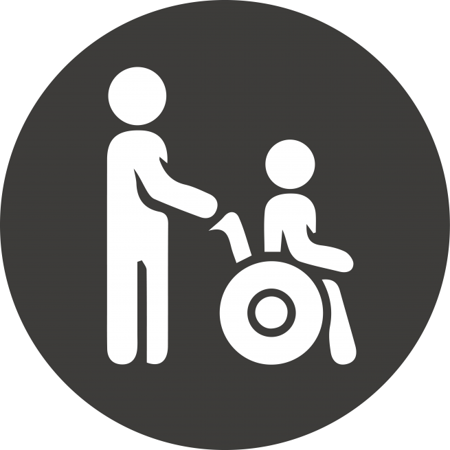 Caregiver support icon