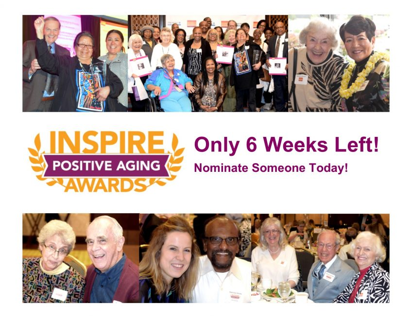Inspire Positive Aging Award - 6 Weeks left reminder