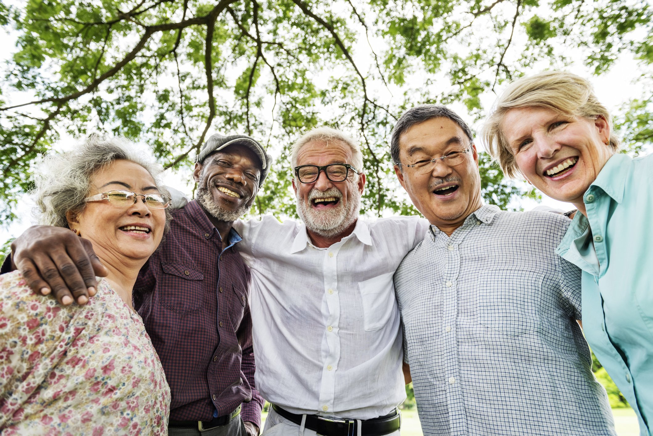 Older Adults Smiling and Laughing