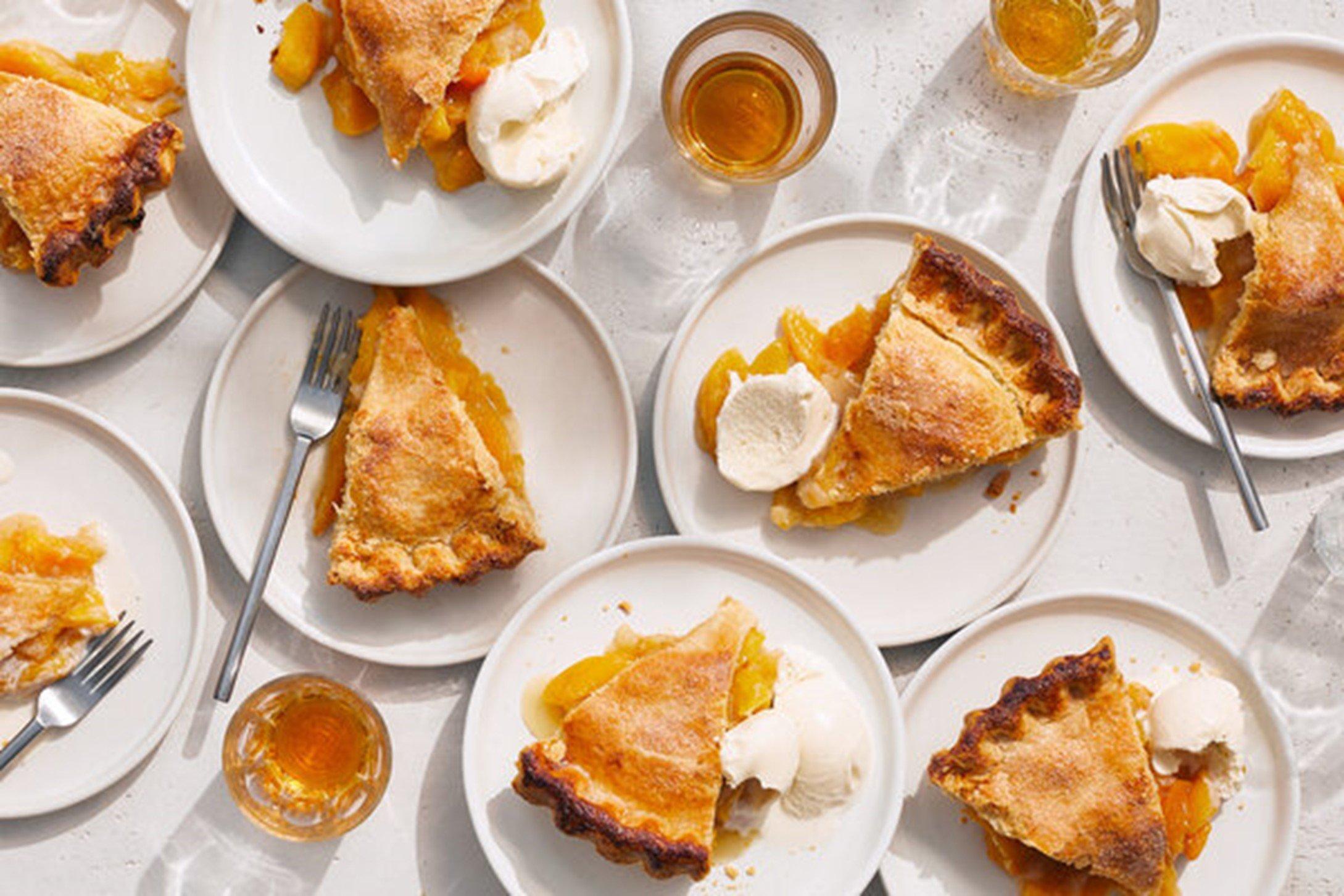 images of peach pie